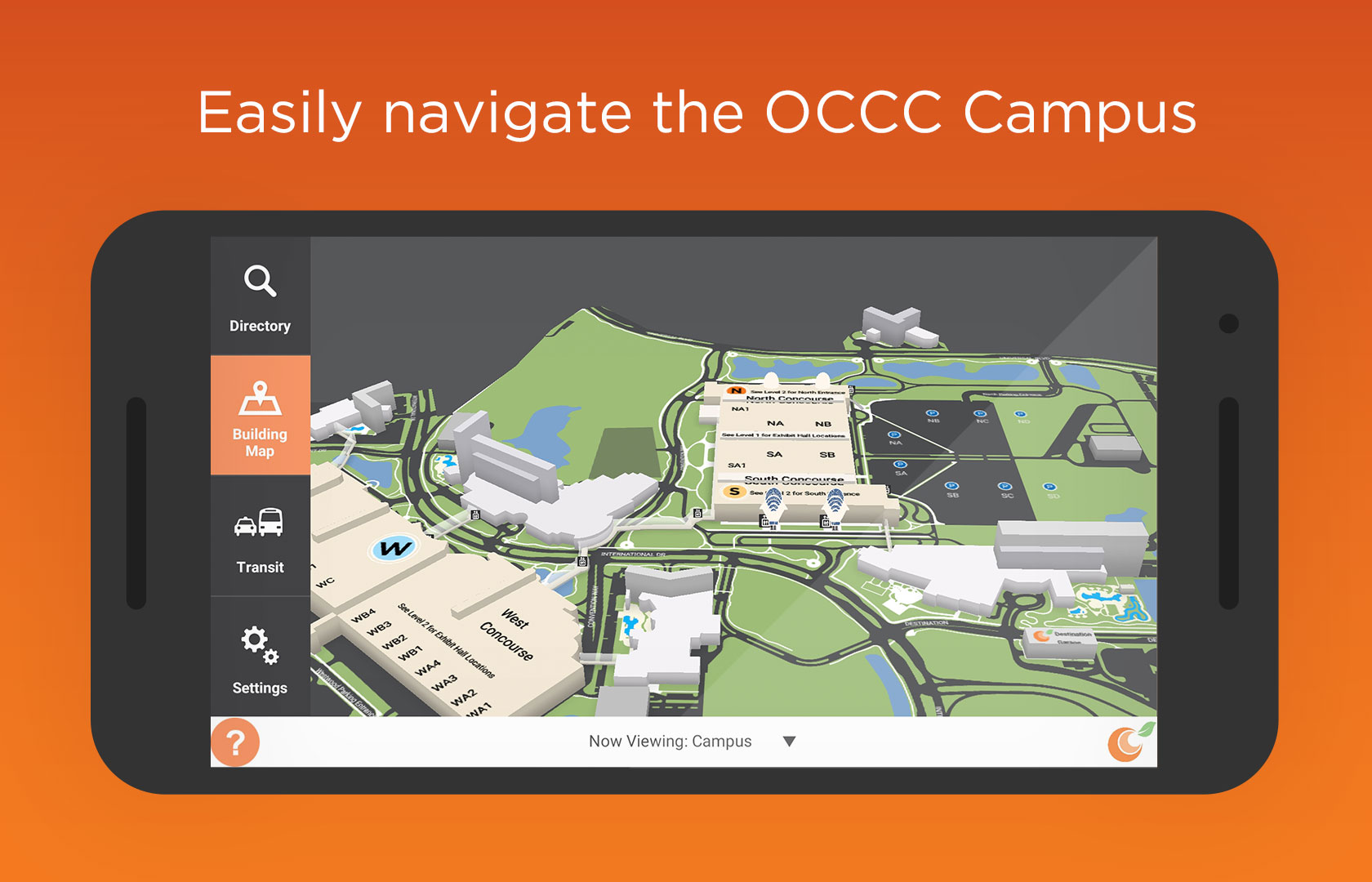 Easily navigate the OCCC Campus