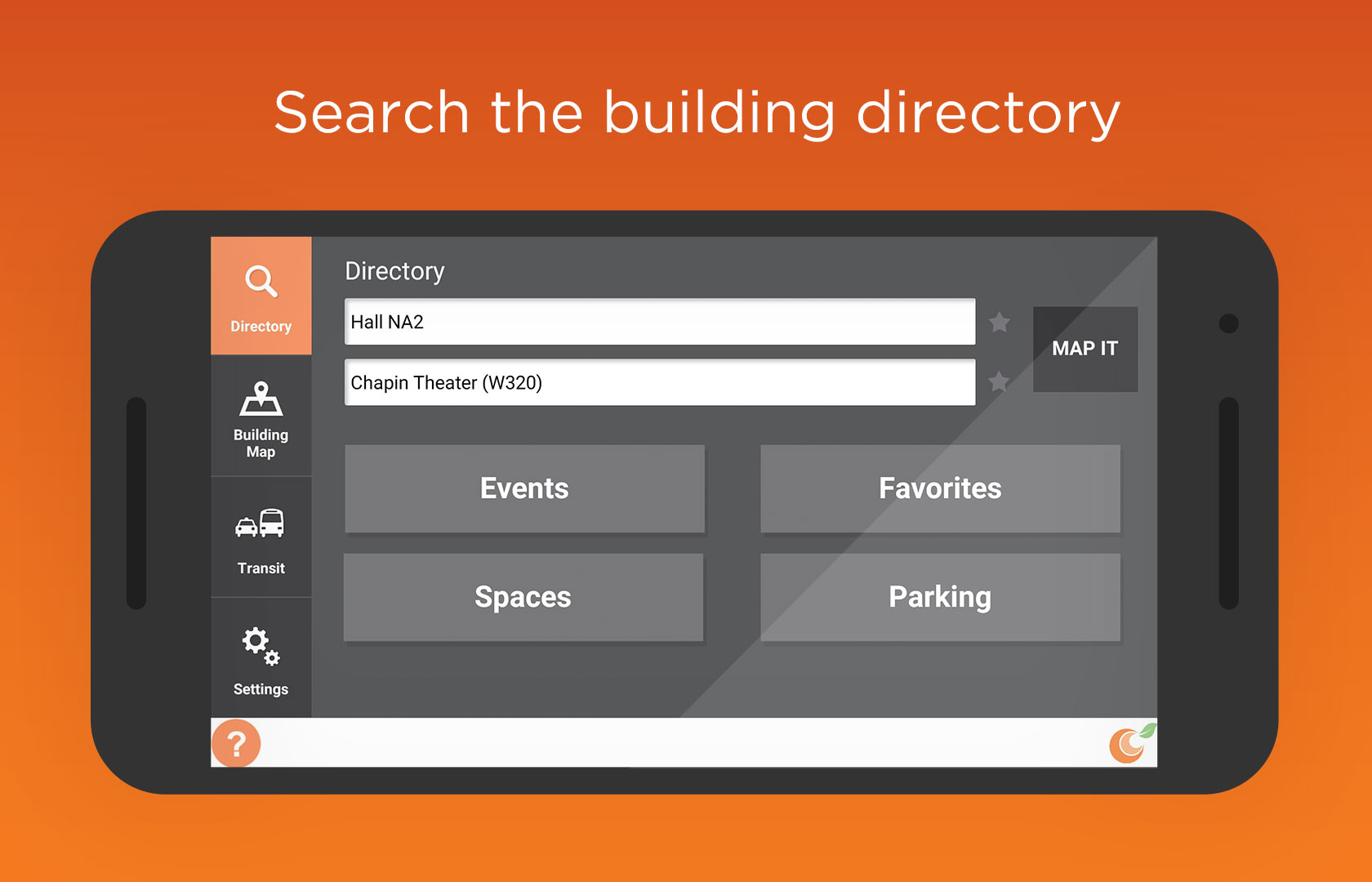 Search the building directory